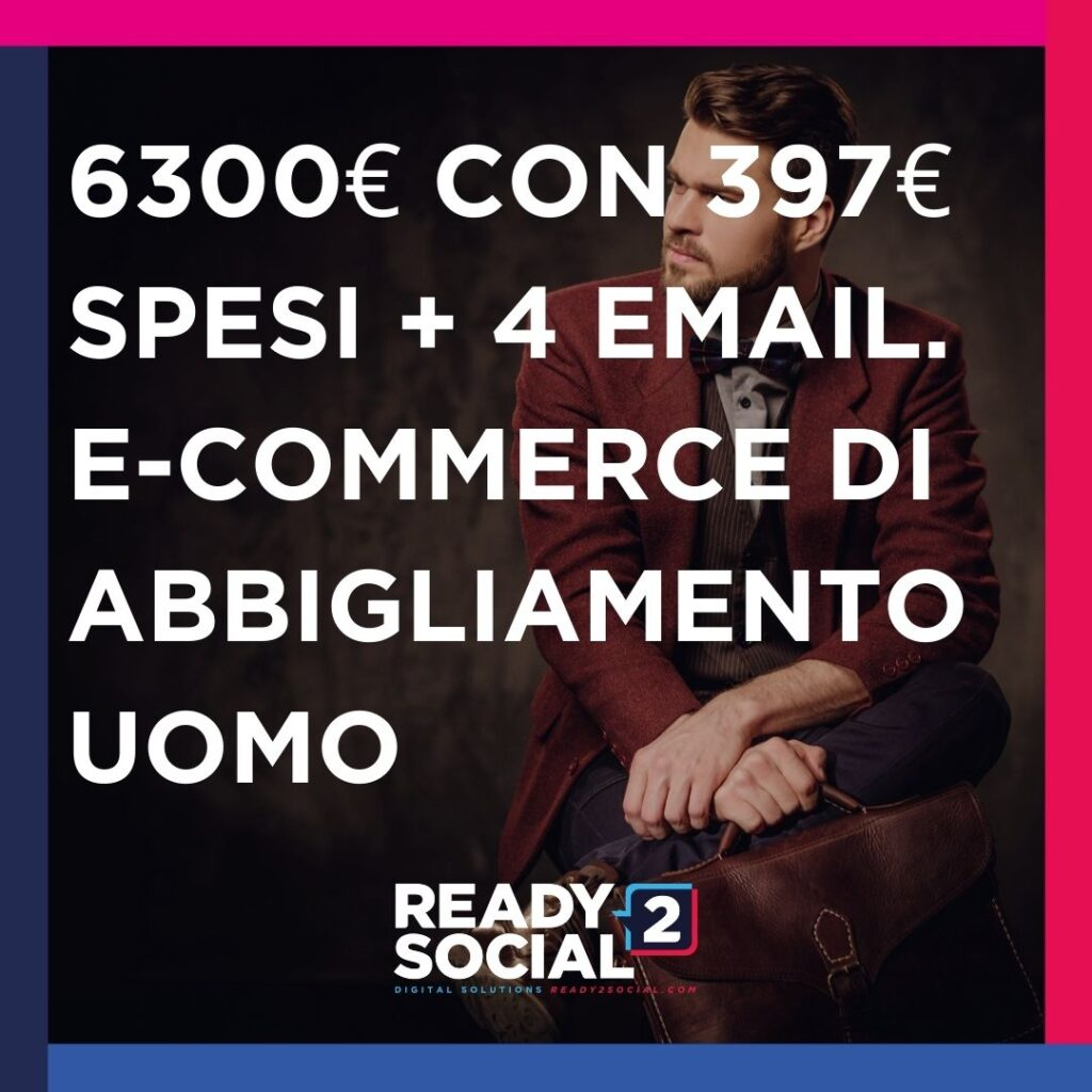 Ecommerce uomo facebook ads
